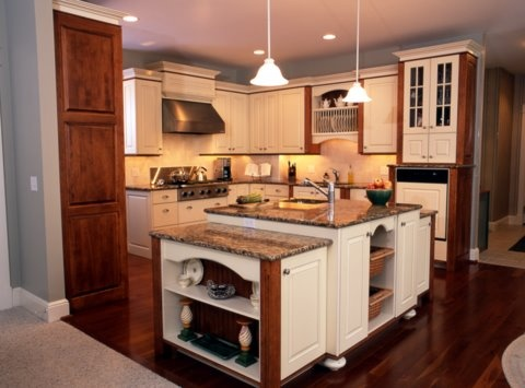 bisque-cabinets-cherry-trim