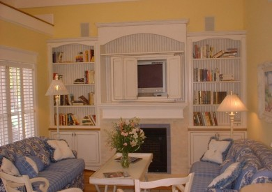 Cottage Living Room Wall Unit