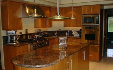 Natural Cherry Veneer Cabinets