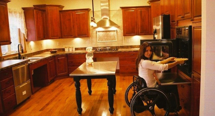 wheelchair kitchen design handicapped kitchen design archives country cabinets 1001
