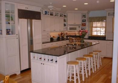 White Beadboard Kitchen